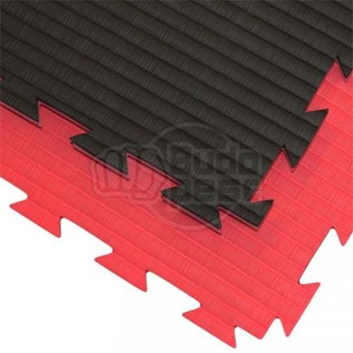 Karate Tatami, 1m*1m*2cm, Professional Double, red/black
