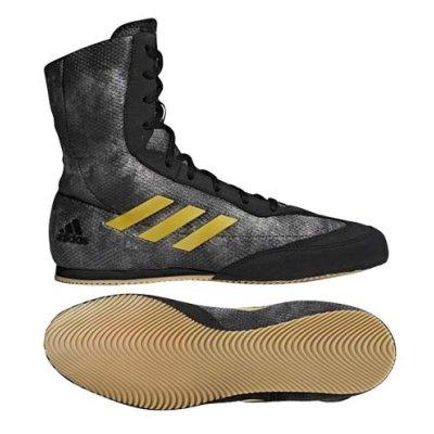 Boxing shoes, adidas, BoxHog Plus, black/gold, 42 size