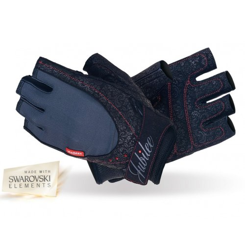 Fitness Gloves, Madmax, Jubilee withw Swarovski Elements, for woman