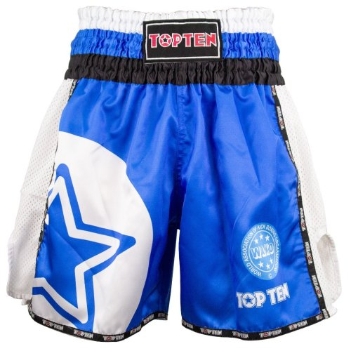 Kick-box shorts, Top Ten, WAKO Star, Kék szín, XL size