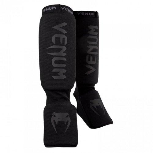 Venum Kontact Shin Guards- black, Fekete szín