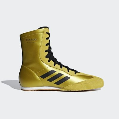 Boxing shoes, adidas, BoxHog Plus, black/gold