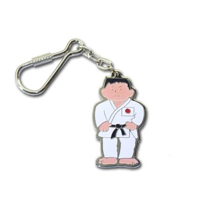 Key ring, Judo, 1 boy, metal
