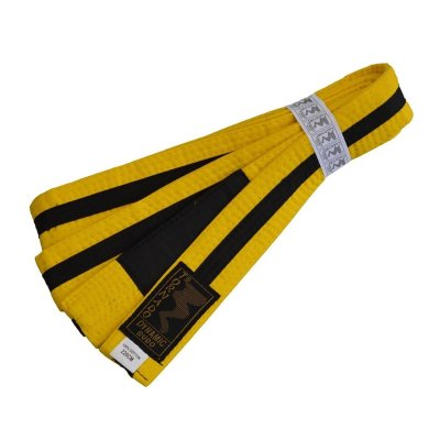 BJJ Belt, for Children, yellow / black stripe