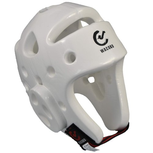 Head guard, Wacoku, WTF, dipped foam, white
