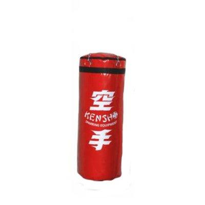 Boxzsák, Kensho, 120 cm-től, PU, lánccal, piros