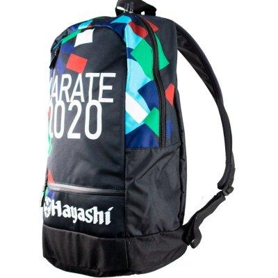 Hátitáska, Hayashi, Karate 2020, fekete-zöld