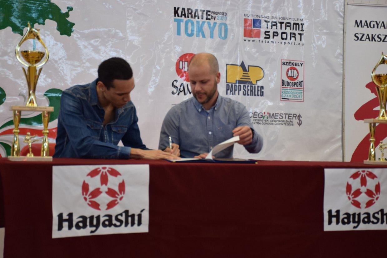 A 2016-os magyar karate bajnok Tadissi Yves Martial aláírt a Hayashi-hoz!
