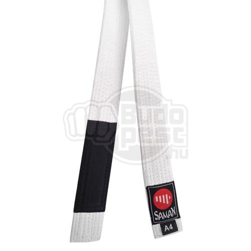BJJ belt, Saman, white, A1 (160 cm) méret