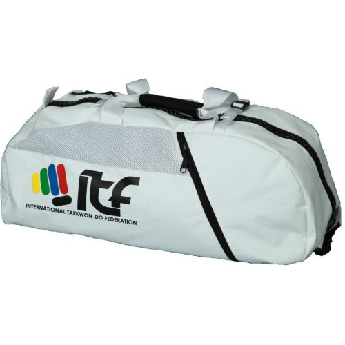 "Backpack-Sportsbag-Dufflebag combination ""ITF"" - 67 cm x 36 cm x 33 cm, white"