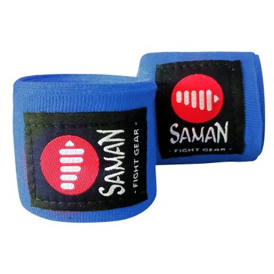 Bandage, Saman, flexible, 350cm, blue