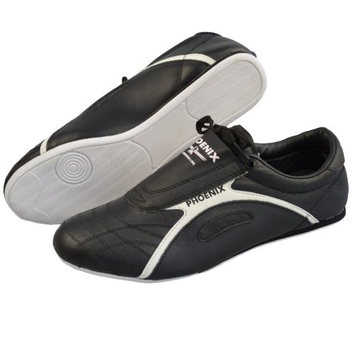 Taekwondo shoes, Phoenix, Professional Line, leather, black-white, 43 size