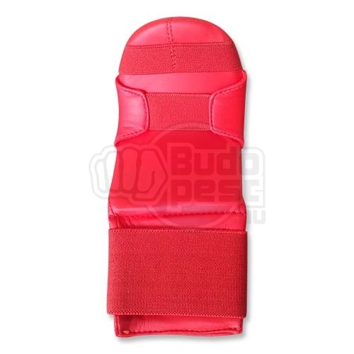 Karate mitt, Saman, WUKF, Shobu Sanbon, artificial leather, red