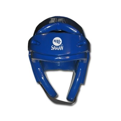 Headguard, Saman, Fight, Dipped foam, blue