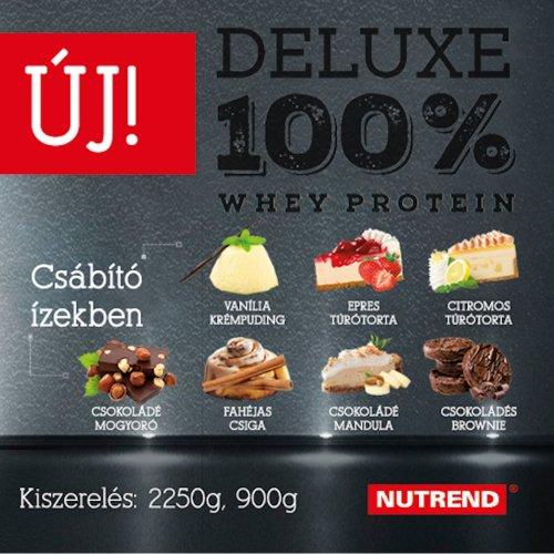 NUTREND DELUXE 100% WHEY PROTEIN - 2250G, Csokoládé-mandula ízek
