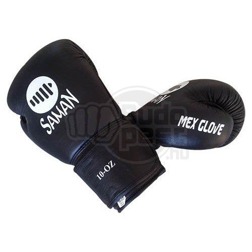 Boxing gloves, Saman, Mex Glove, leather, black, 16 oz size