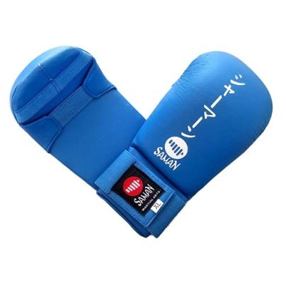 Karate mitt, Saman, Competition, karate, artificial leather, blue, XL size