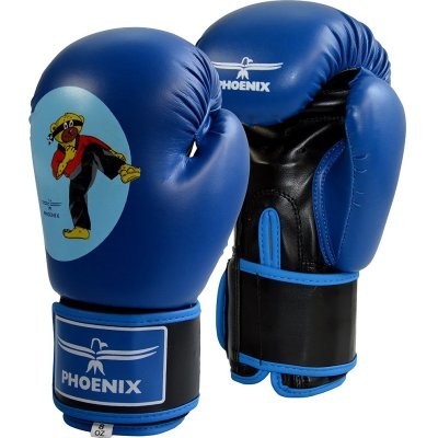 Boxing gloves, Phoenix, Junior, Budobear, 4 oz., blue