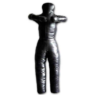 Birkozó bábu, műbőr, fekete, 175cm, 40kg