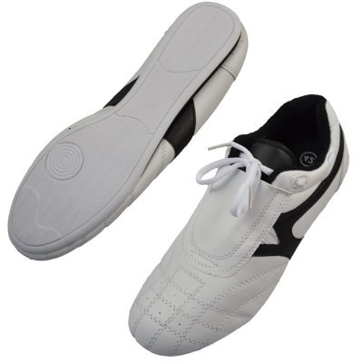 Martial arts shoes, Phoenix, white-black, 37 size