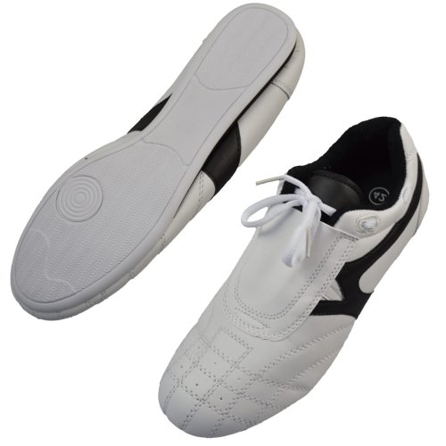 Martial arts shoes, Phoenix, white-black, 43 size
