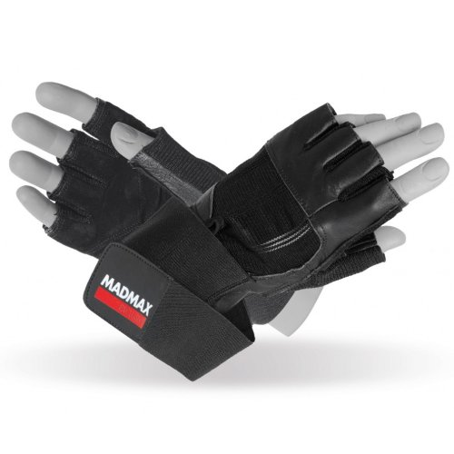 Fitness Gloves, Madmax, Professional, for men, Fekete szín, M size