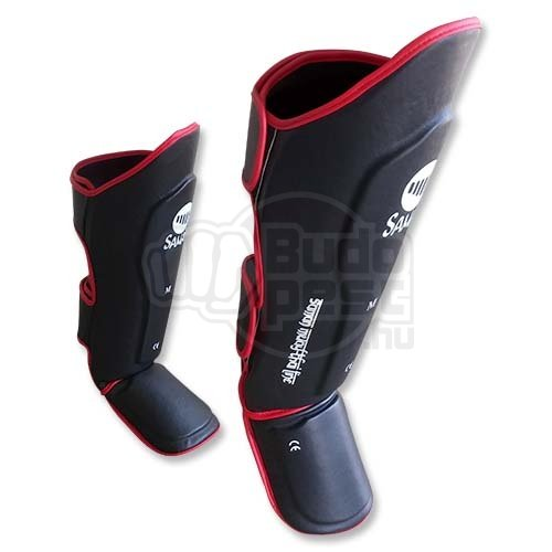 Thai Box Shin and instep pad, Saman, PU, black, S size