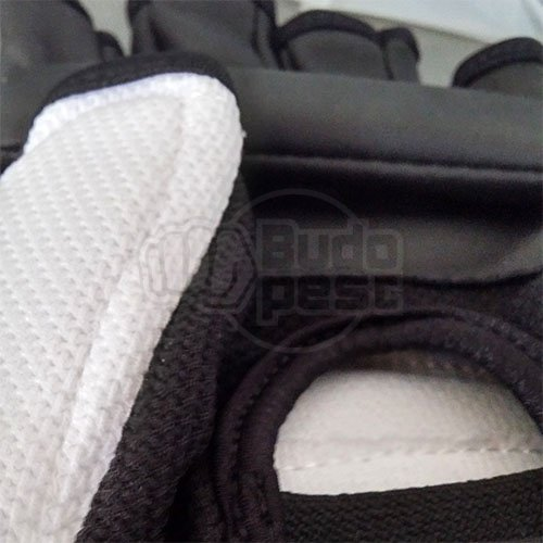 Taekwondo gloves, WTF, Wacoku, white/black, XL size