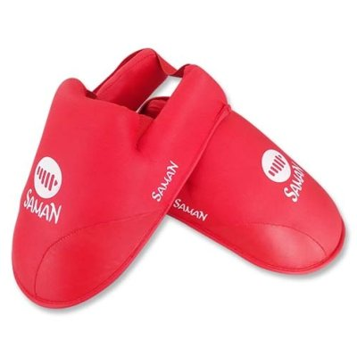 Instep Pad, Saman, karate, PU, red