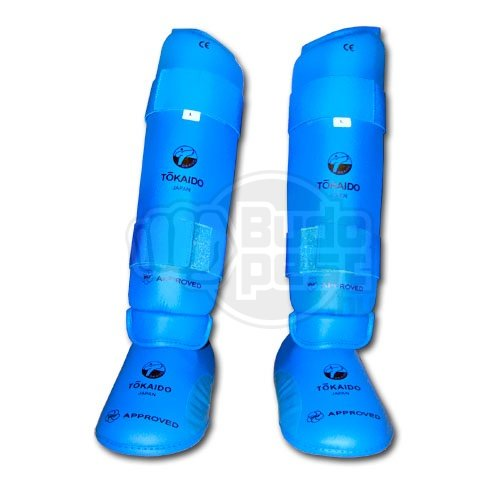 Shinpad with removable instep pad, Tokaido, WKF, blue