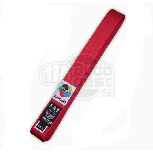 Karate öv, Tokaido, WKF, piros, 355 cm (8,0) méret