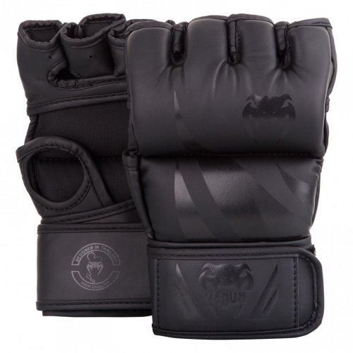 Venum Challenger MMA Gloves - Without thumb - black/black, S méret