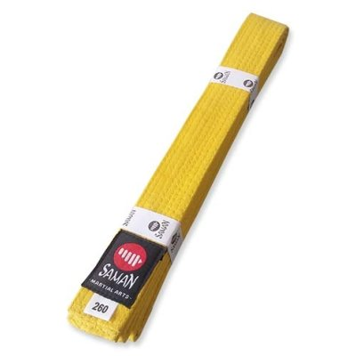Belt, Saman, cotton, yellow, 240 size