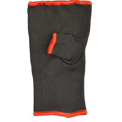 Boxing inner gloves, Phoenix,  stretch hoisiery, black-orange
