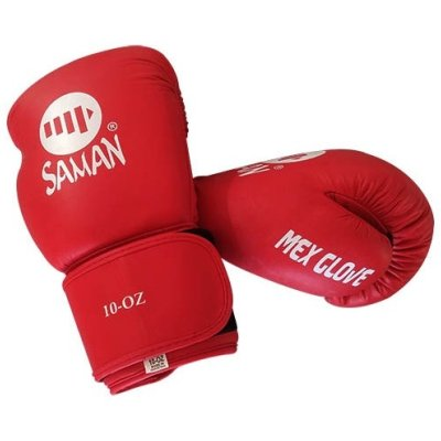 Boxing gloves, Saman, Mex Glove, leather, red, 12 oz size