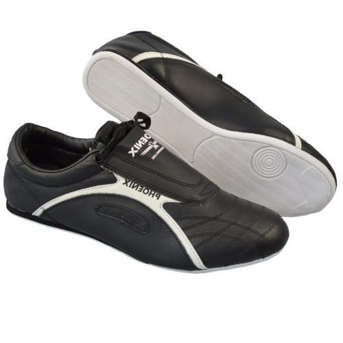 Taekwondo shoes, Phoenix, Professional Line, leather, black-white, 40 size