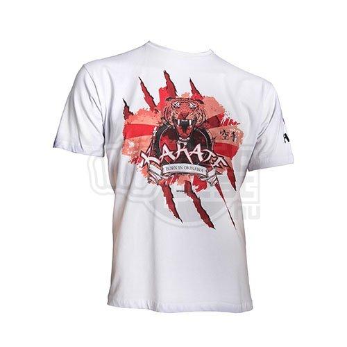 T-Shirt, Hayashi, Tiger, white, L size