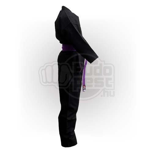 Karate ruha, Saman, Budo Black, fekete, pamut, 12 oz