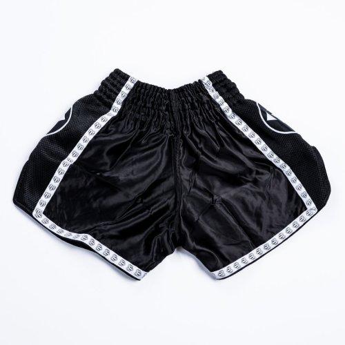 Thai-Box nadrág, Saman, Colours 1985, polyester, fekete/fehér