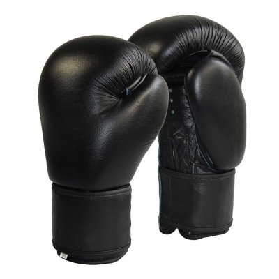 Boxing Gloves, Phoenix, genuine cowhide, black, 10 oz, Fekete szín, 12 oz size