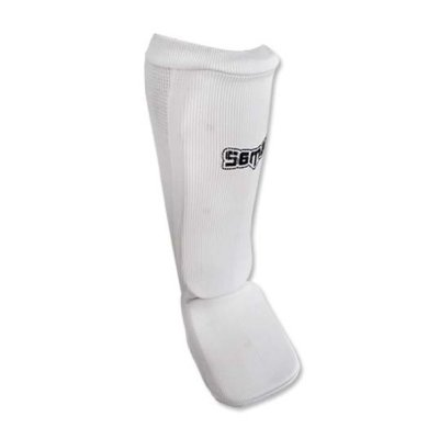 Shin and instep pad, Saman, elastic, white