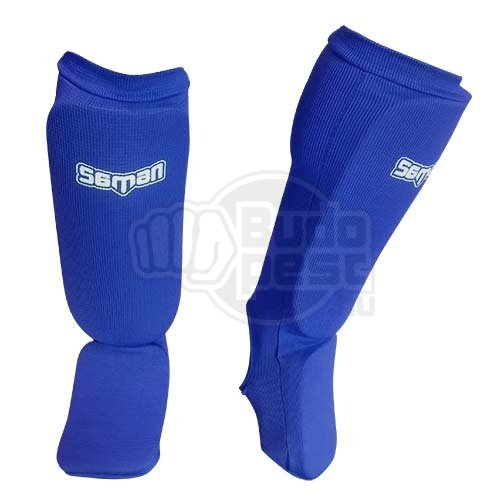 Shin and instep pad, Saman, elastic, blue, XL size