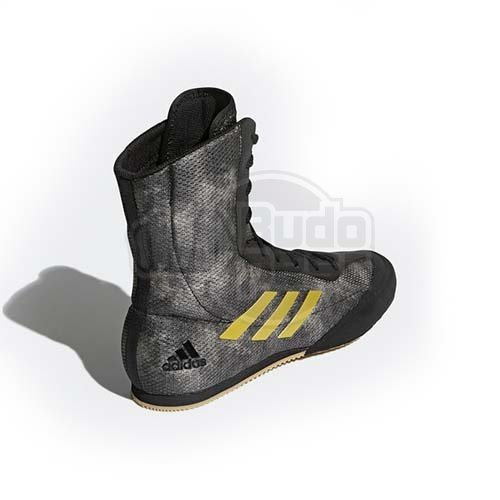 Boxing shoes, adidas, BoxHog Plus, black/gold, 42 2/3 méret