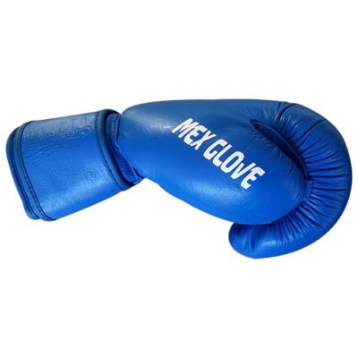 Boxing gloves, Saman, Mex Glove, leather, blue, 12 oz size