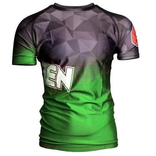 MMA Rashguard, Top Ten, Prism, Zöld szín, S méret