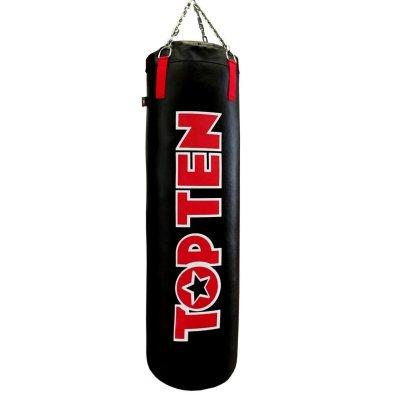 Boxzsák, Top Ten, műbőr, lánccal, fekete-piros