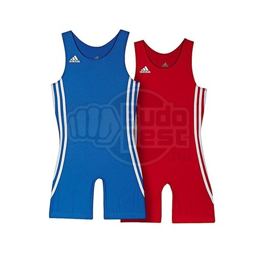 Wrestling suit, adidas, Wrest Pack (for children), red + blue, 116 size