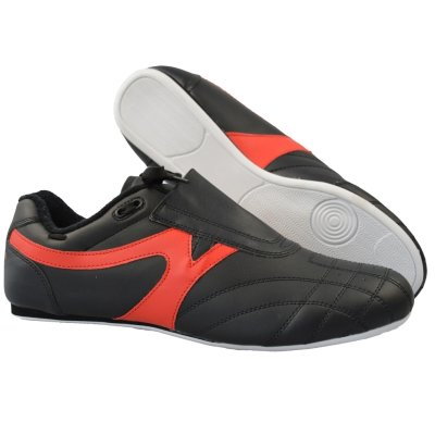 Martial arts shoes, Phoenix, black-red, 47 size