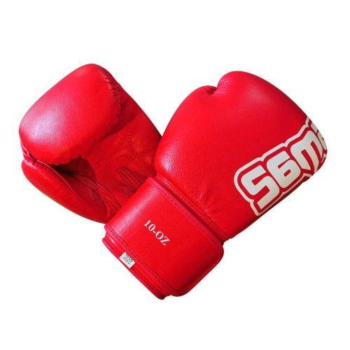 Boxkesztyű, Saman, Mex Glove, bőr, piros