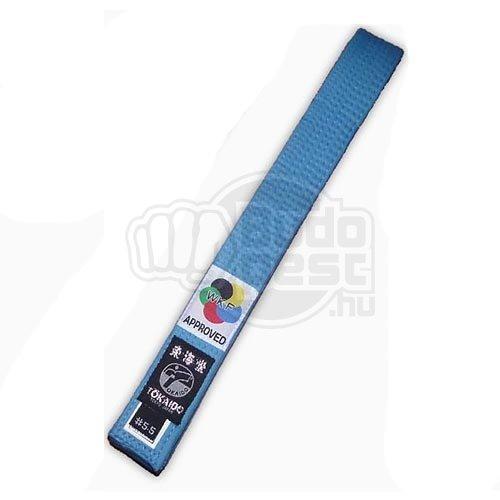 Karate öv, Tokaido, WKF, kék, 295 cm (5,0) méret